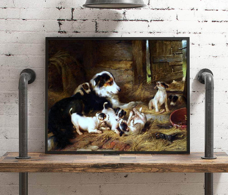 Foster Mother Painting Walter Hunt Canvas Art