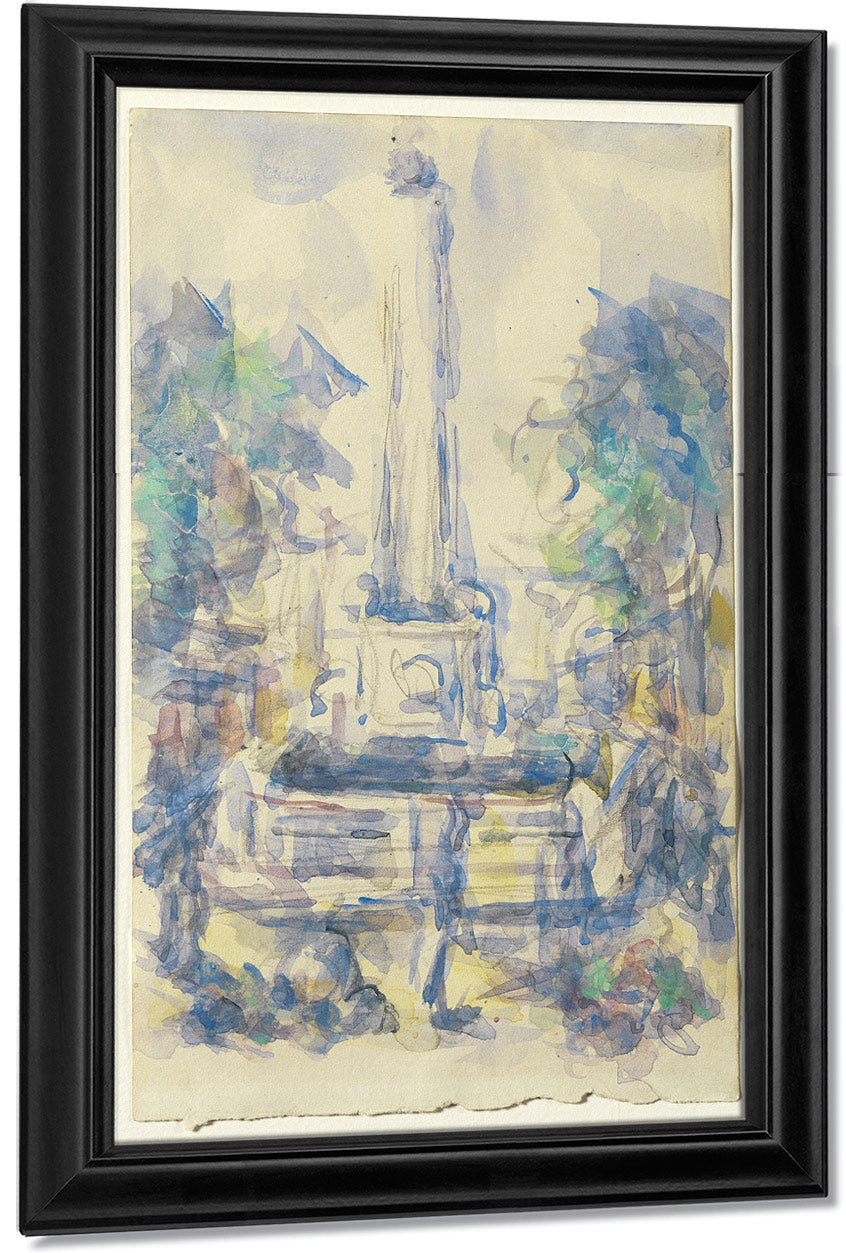 Fountain, Place De La Mairie In Aix En Provence By Paul Cezanne