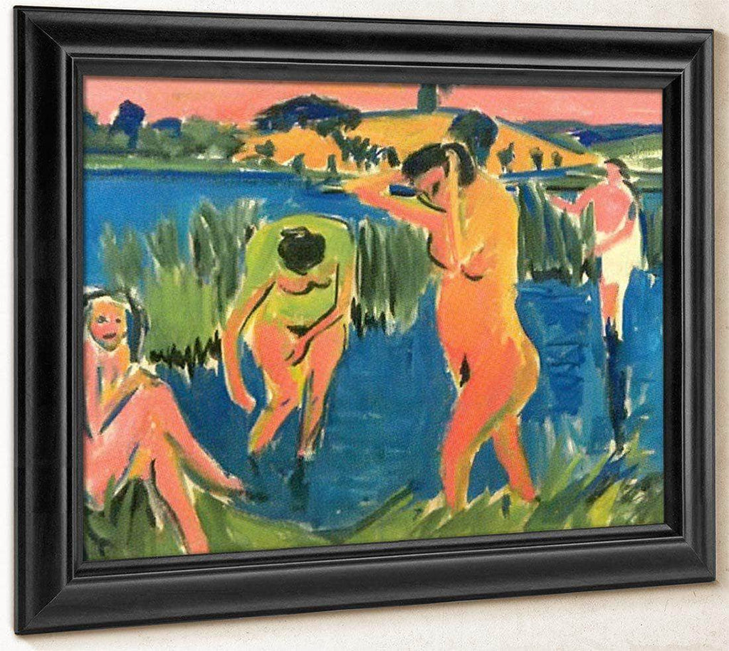 Four Bathers By Ernst Ludwig Kirchner