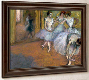 Four Dancers In The Foyer By Edgar Degas