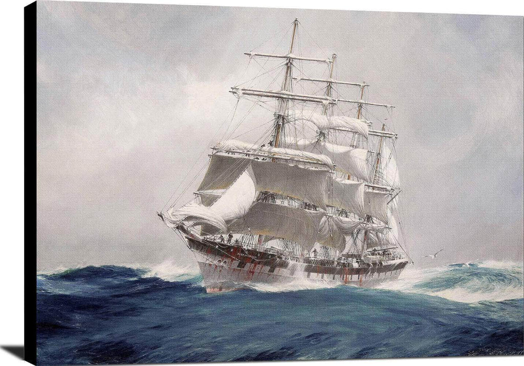 Four Masted Wool Clipper Port Jackson Painting Jack Spurling Canvas Art