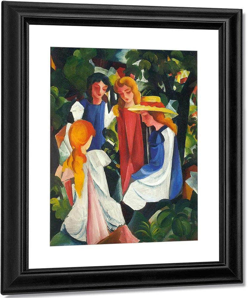 Four Young Girls By August Macke