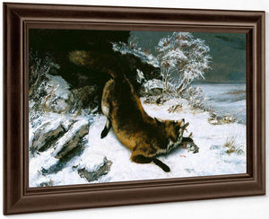 Fox In The Snow By Gusave Courbet