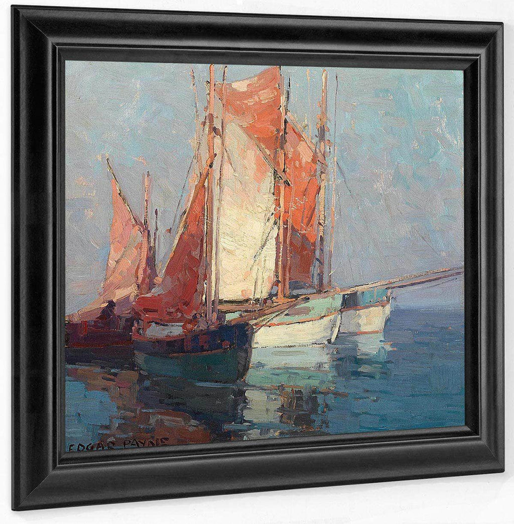 French Sailboats By Edgar Payne