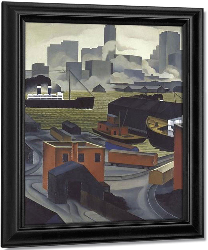 From Brooklyn Heights By George Ault