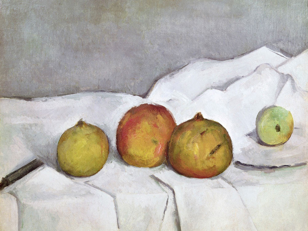 Fruit On A Cloth By Paul Cezanne