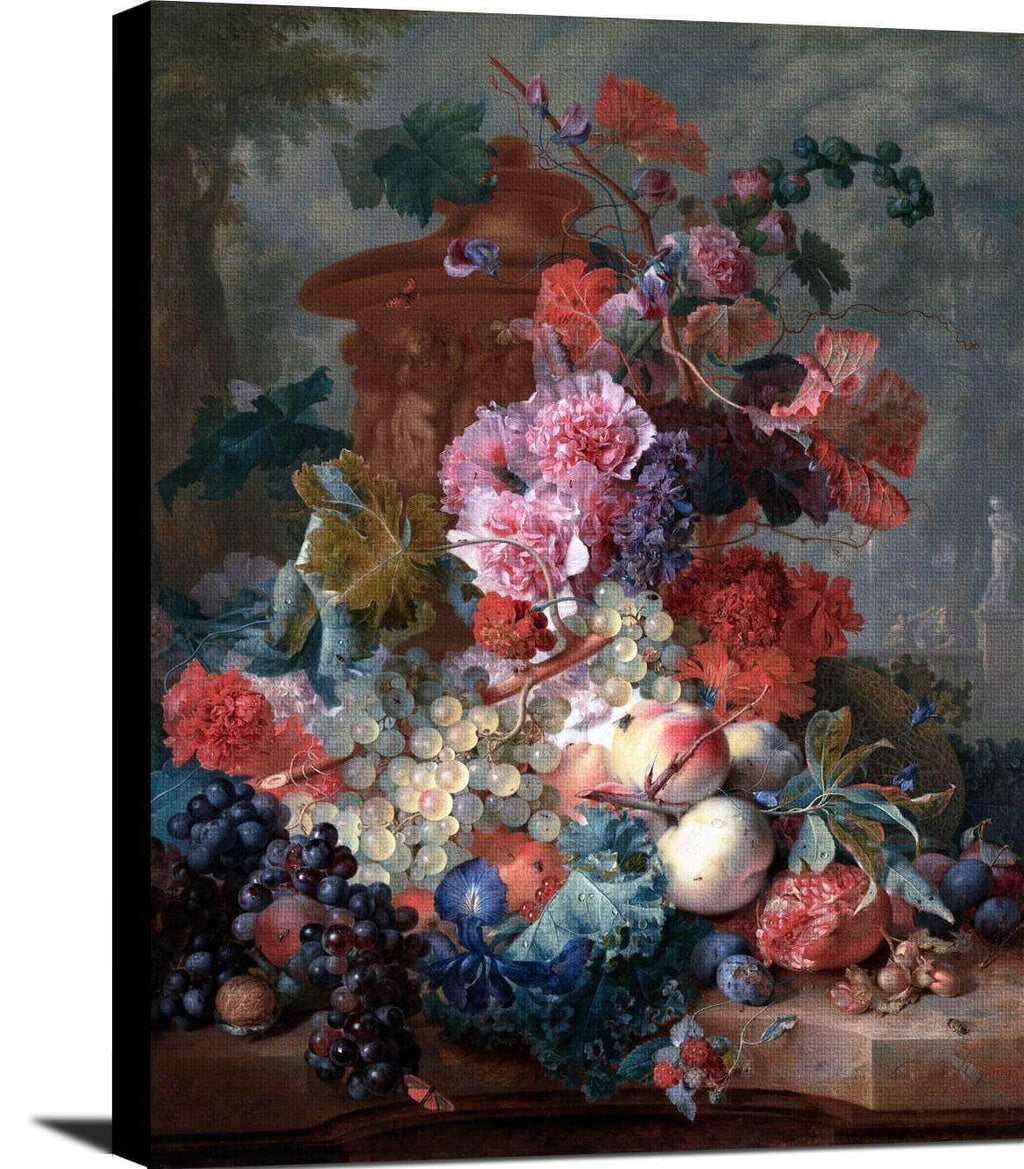 Fruit Piece Painting Jan Van Huysum Canvas Art