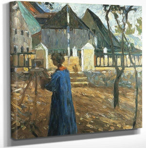 Gabriele Munter Painting In Kallmunz 1903 By Wassily Kandinsky