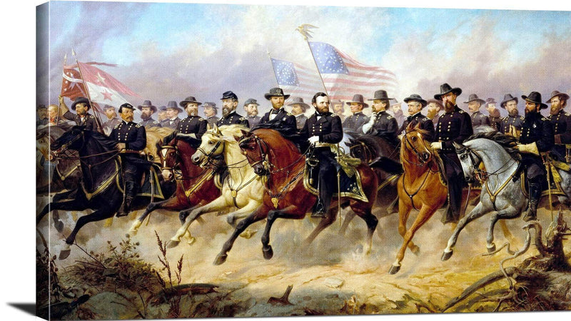 General Grant And His Generals Painting Ole Peter Hansen Balling Canvas Art