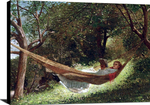 Girl In A Hammock Painting Winslow Homer Canvas Art