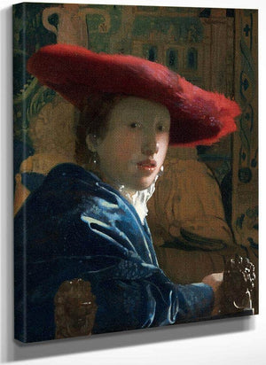 Girl With The Red Hat 1666 By Johannes Vermeer