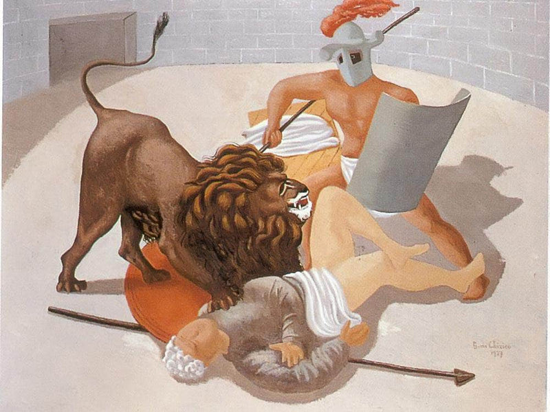 Gladiators And Lion1927 By Henri Rousseau