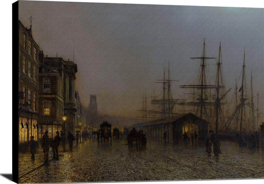 Glasgow, Saturday Night Painting John Atkinson Grimshaw Canvas Art