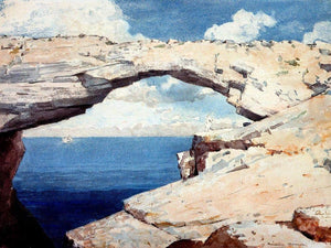 Glass Window Bahama By Winslow Homer