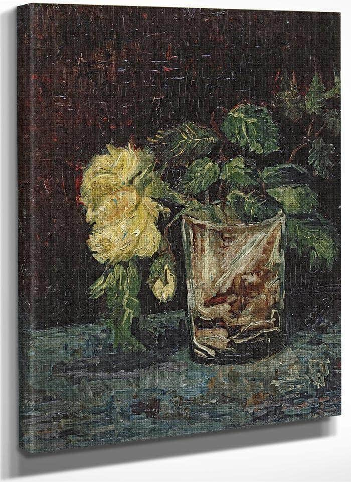 Glass With Yellow Roses By Vincent Van Gogh
