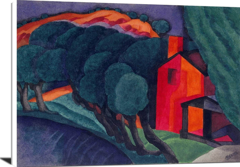 Glowing Night Painting Oscar Bluemner Canvas Art