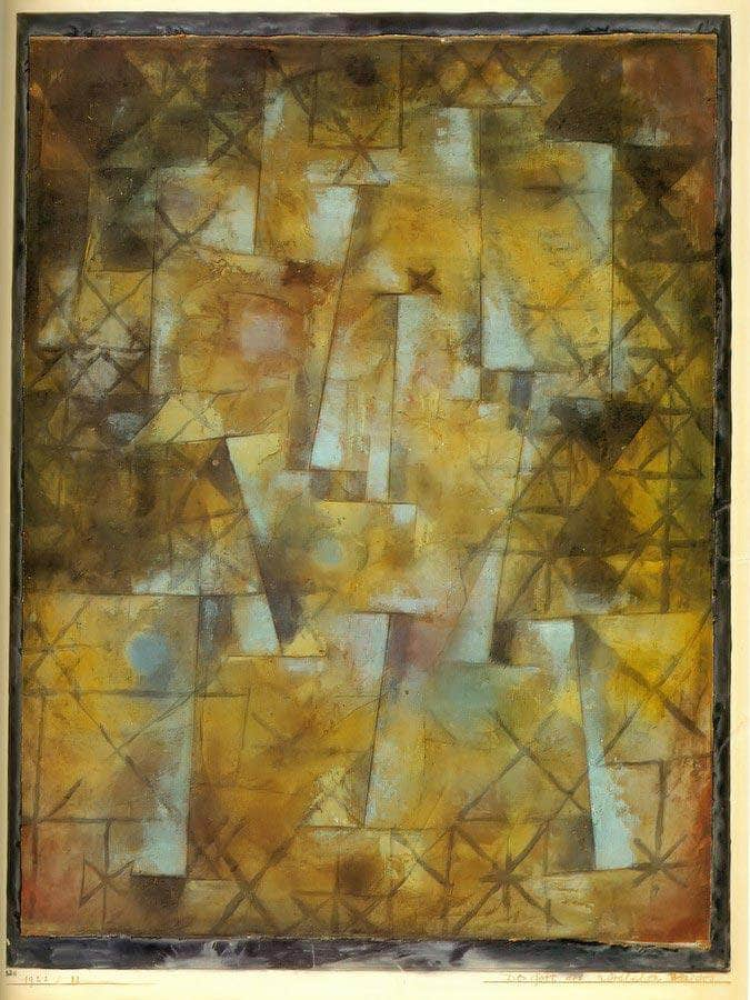 God Of The Northern Woods 1922 32 By Paul Klee