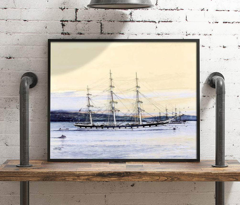 Golden Fleece Lying At Anchor Painting Jack Spurling Canvas Art