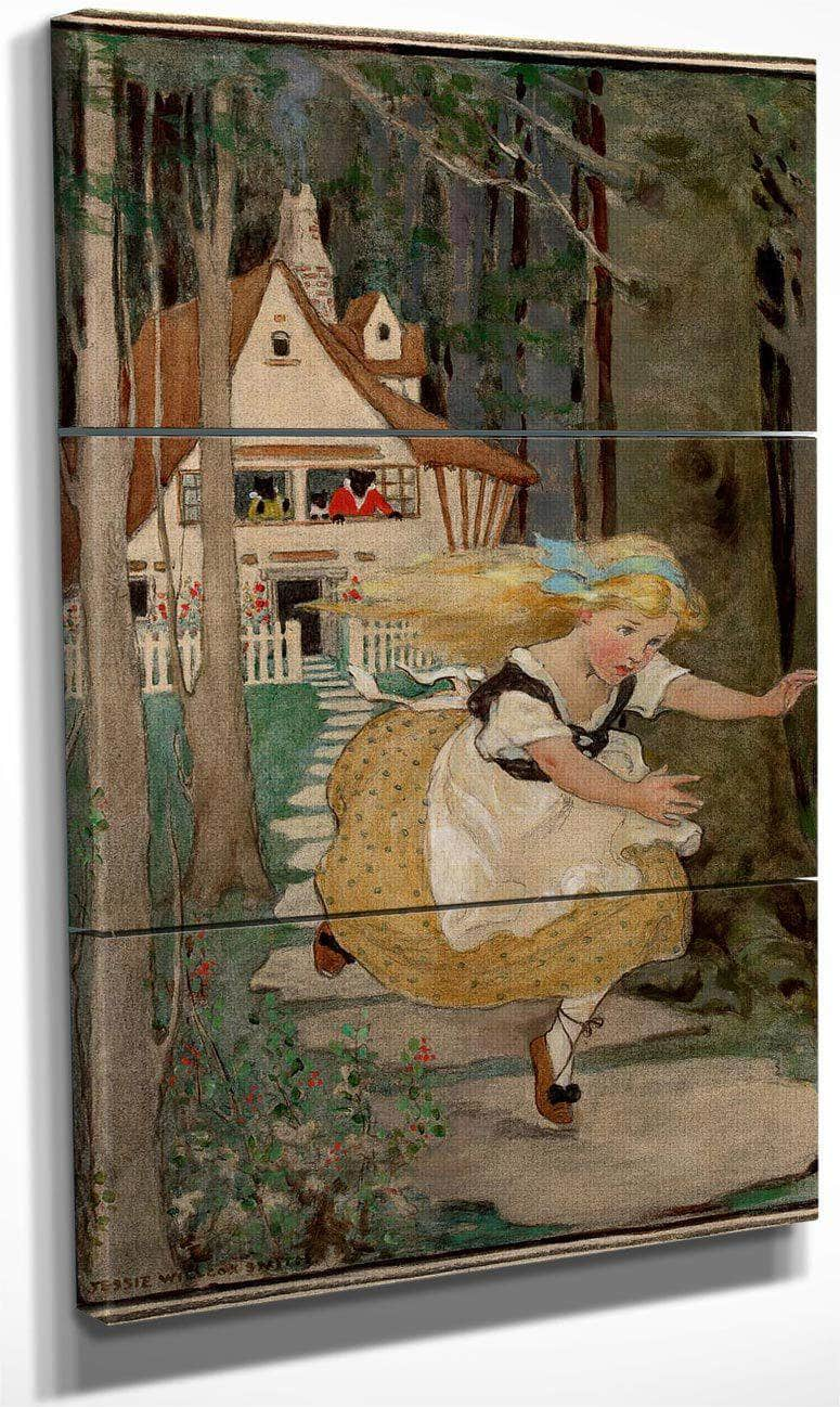 Goldilocks And The Three Bears Swifts Premium Soap Products Calendar Illustration 1916 By Jessie Willcox Smith