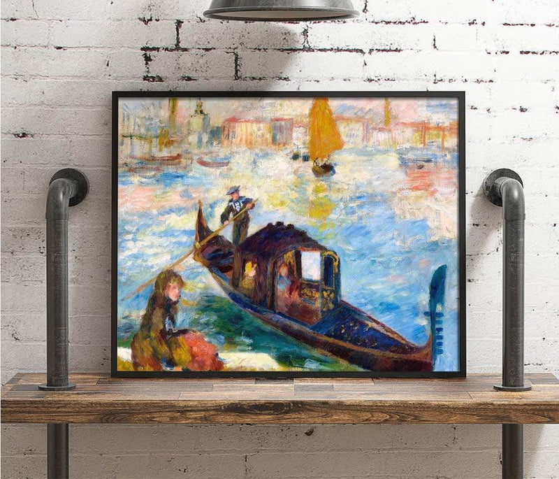 Gondola On The Grand Canal, Venice Painting Auguste Renoir Canvas Art