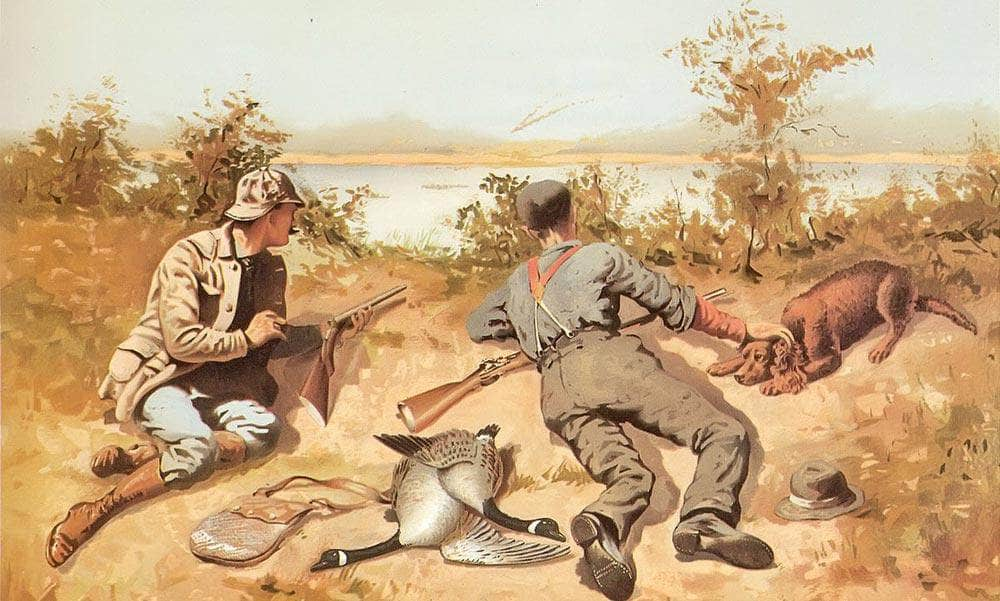 Goose Shooting Aka Pheasant Shooting By Frederic Remington
