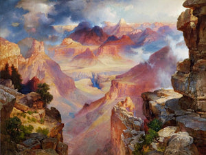 Grand Canyon Of Arizona At Sunset Painting Thomas Moran Canvas Art