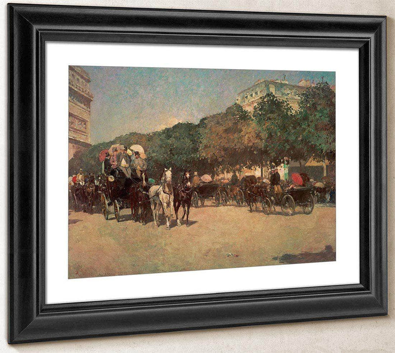 Grand Prix Day By Childe Hassam