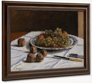 Grapes And Walnuts On A Table 1876 By Alfred Sisley