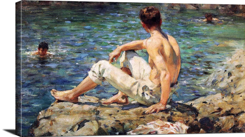 Green And Gold Painting Henry Scott Tuke Canvas Art