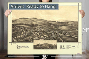 Greenville Nh 1886 Vintage Map