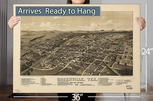 Greenville Tex County Seat Of Hunt County 1886 Vintage Map