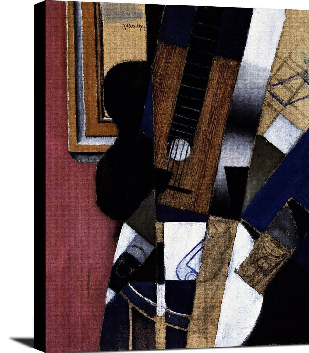 Guitar And Pipe Painting Juan Gris Canvas Art