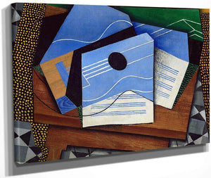 Guitar On A Table By Juan Gris