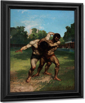 Gustave Courbet The Wrestlers 1853 By Gustave Courbet