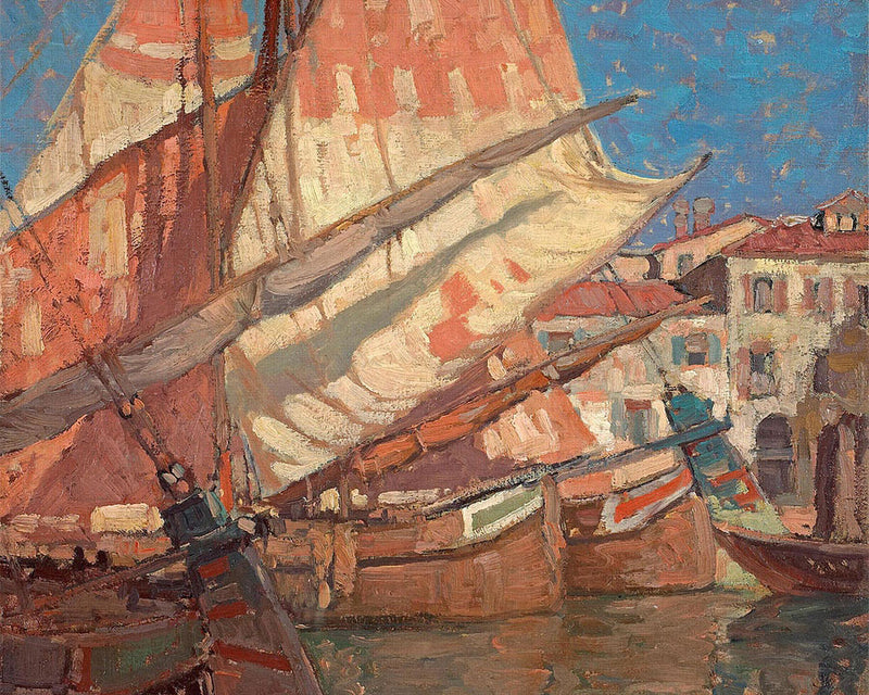 Harbor Of Golden Sails By Edgar Payne1