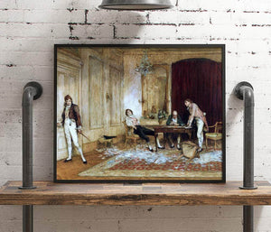 Hard Hit Painting Sir William Quiller Orchardson Canvas Art