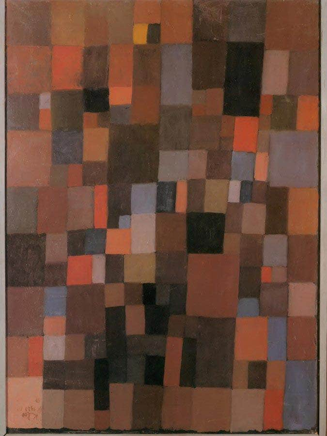 Harmony Of Rectangles In Red Yellow Blue With And Black 1923 238 By Paul Klee