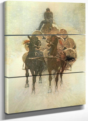 Hauling Logs To The River Aka The Tragedy Of The Trees Part Iii By Frederic Remington