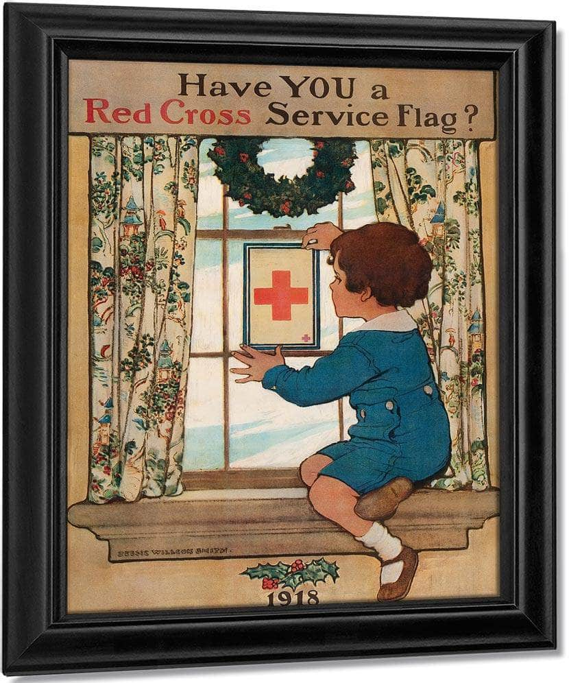 Have You A Red Cross Service Flag By Jessie Willcox Smith