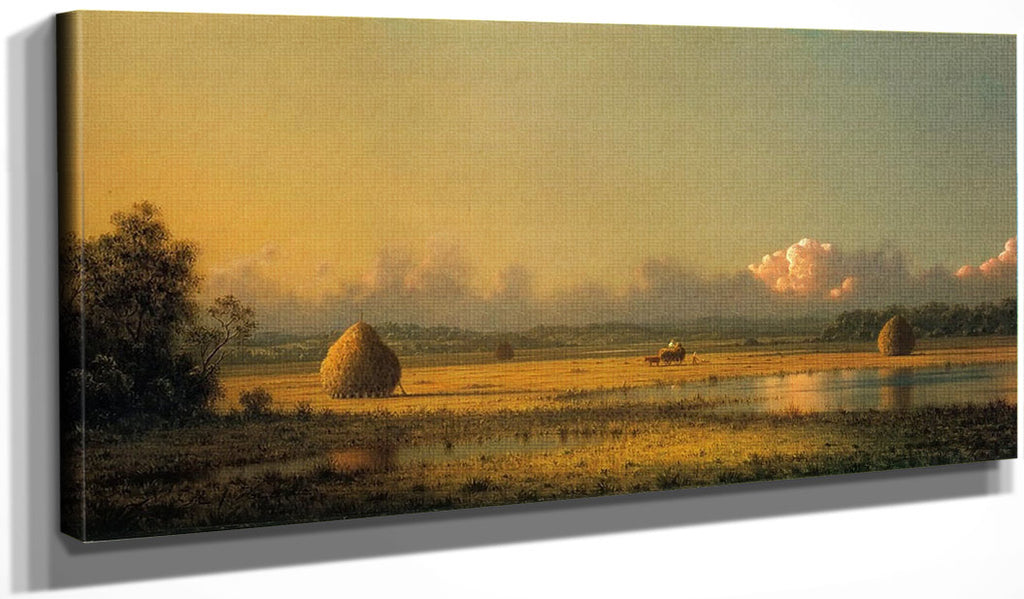 Hayfields A Clear Day By Martin Johnson Heade
