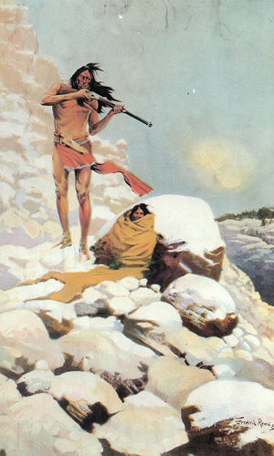 He Made His Magazine Gun Blaze Until Empty By Frederic Remington