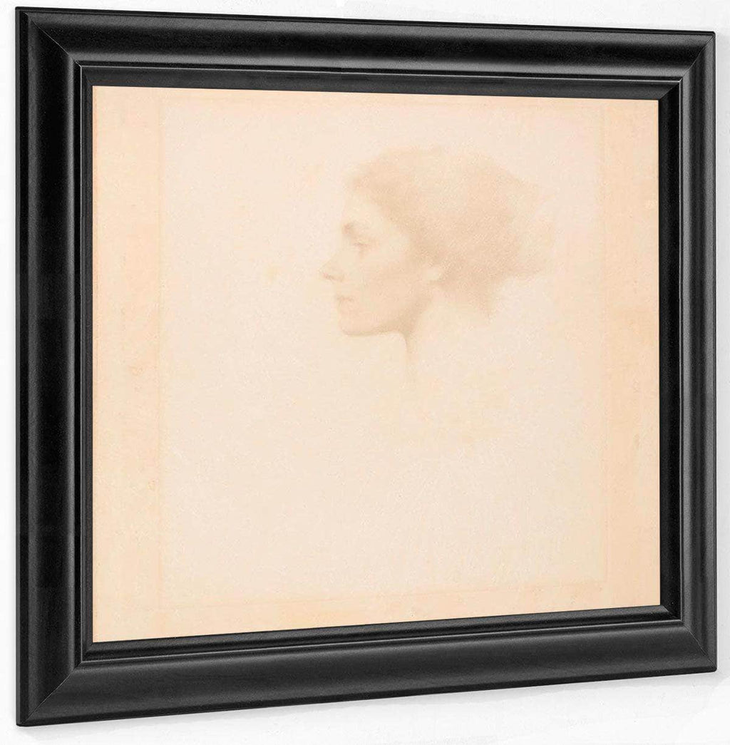 Head Of A Girl By Thomas Wilmer Dewing