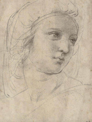 Head Of A Muse By Raphael