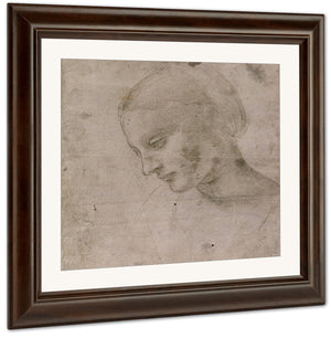 Head Of A Young Woman Or Head Of The Virgin By Leonardo Da Vinci