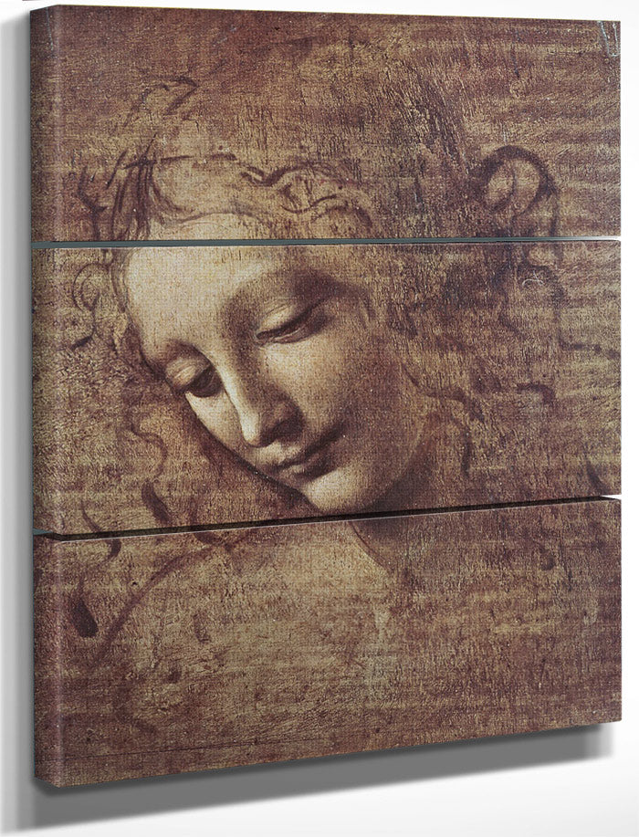 Head Of A Young Woman With Tousled Hair Or Leda By Leonardo Da Vinci