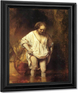 Hendrickje Bathing In A River, 1654 By Rembrandt