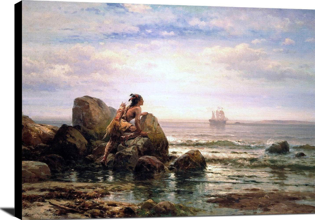 Henrik Hudson New York Harbor Painting Edward Moran Canvas Art