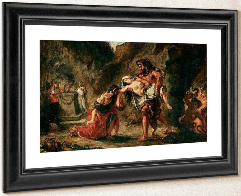 Hercules And Alcestis By Eugene Delacroix