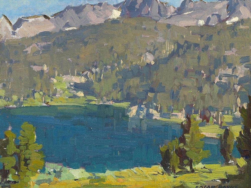High Sierra Lake Scene Edgar Payne