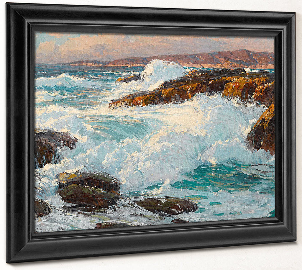 High Surf Along The Laguna Coast By Edgar Payne